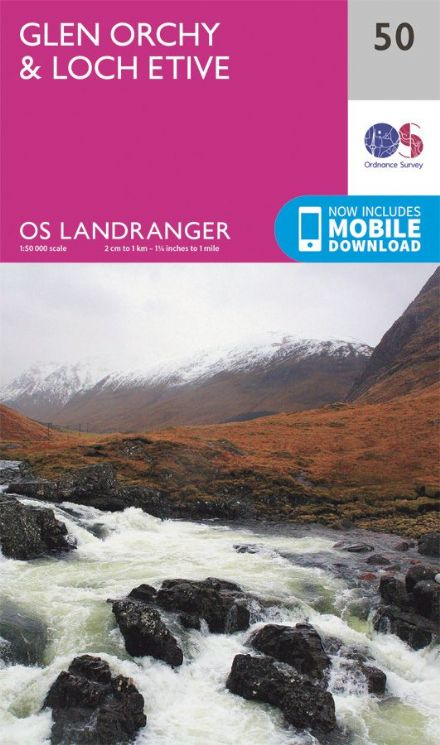 OS Landranger 50 - Glen Orchy and Loch Etive